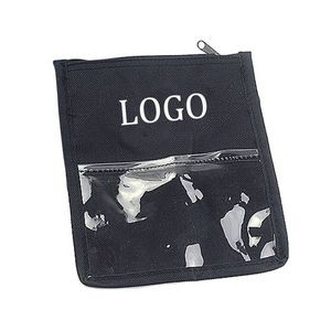 600D Oxford Trade Show Badge Holder & Neck Wallet